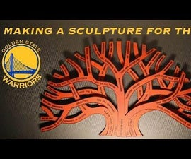 Basketball Leather / Walnut Sculpture for the Golden State Warriors