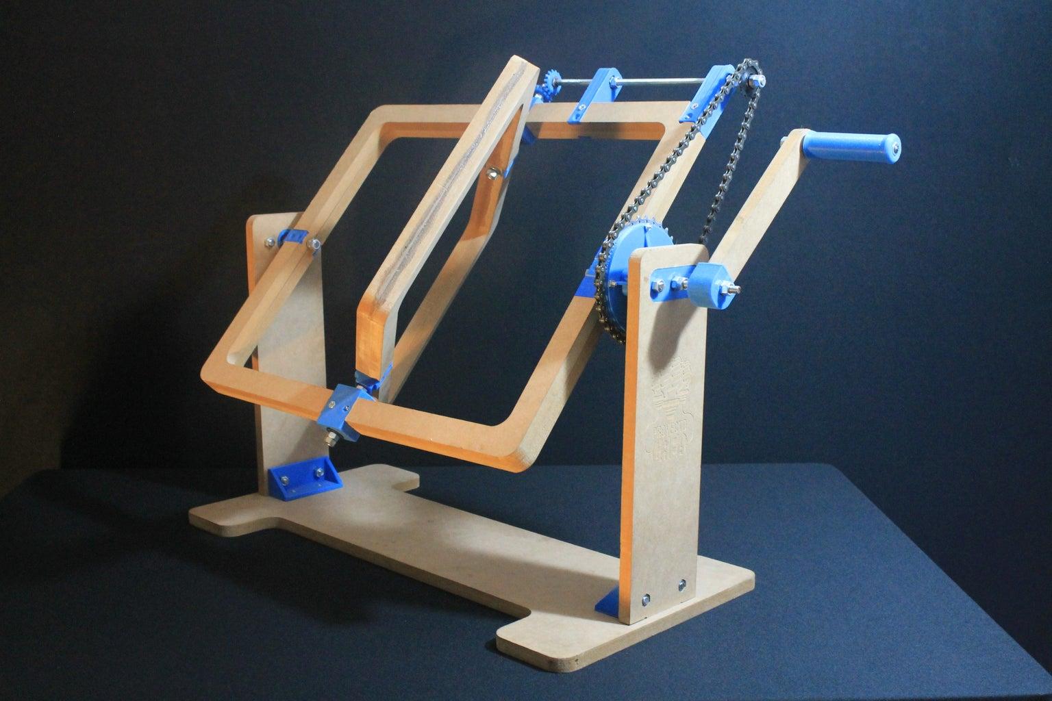 3D Printed and CNC Cut Rotomolding Machine
