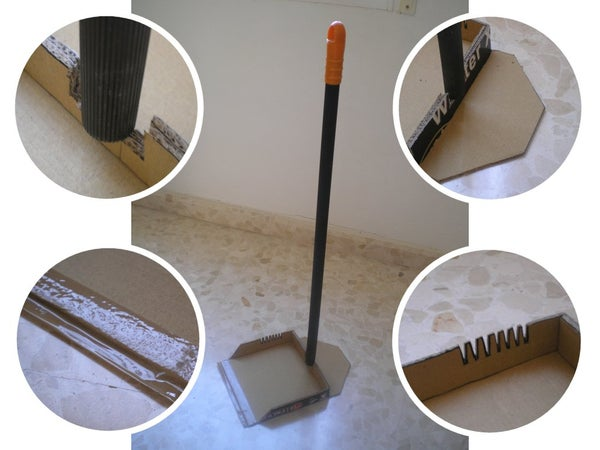 Emergency Cardboard Dustpan (with 4 Features)