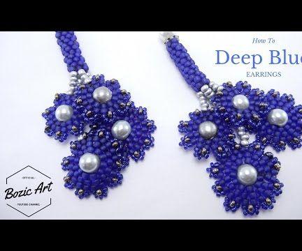 """""""Deep Blue"""" Earrings"""