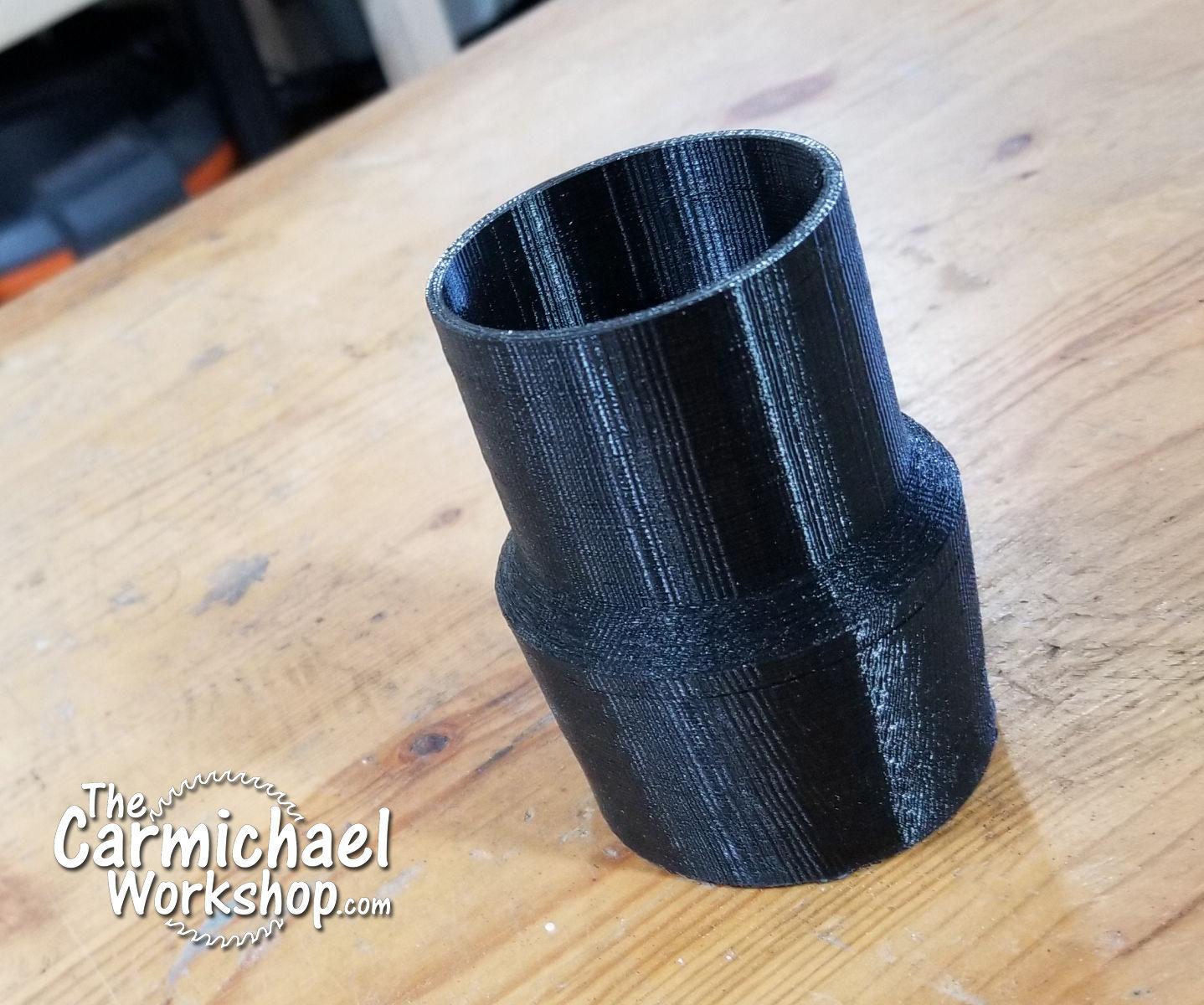 3D Print a Shop Vac Hose Adapter