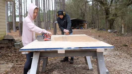 Sanding and Cutting OSB Sheets