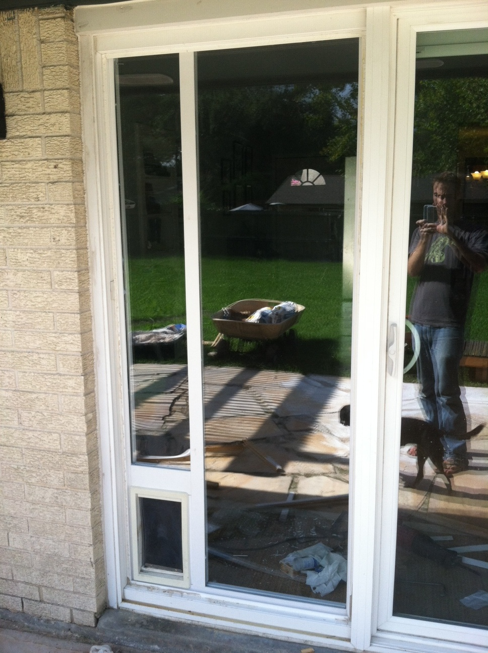 Dog Door Installation Sliding Glass Door 6 Steps Instructables