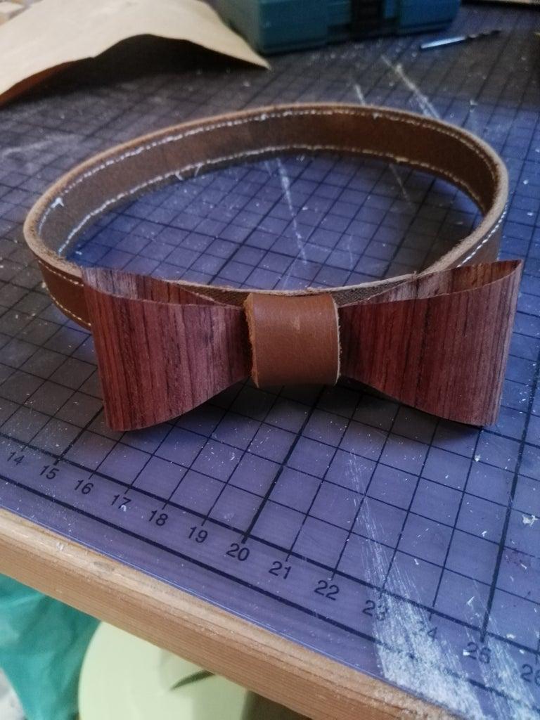 Veneer/leather Bow Tie