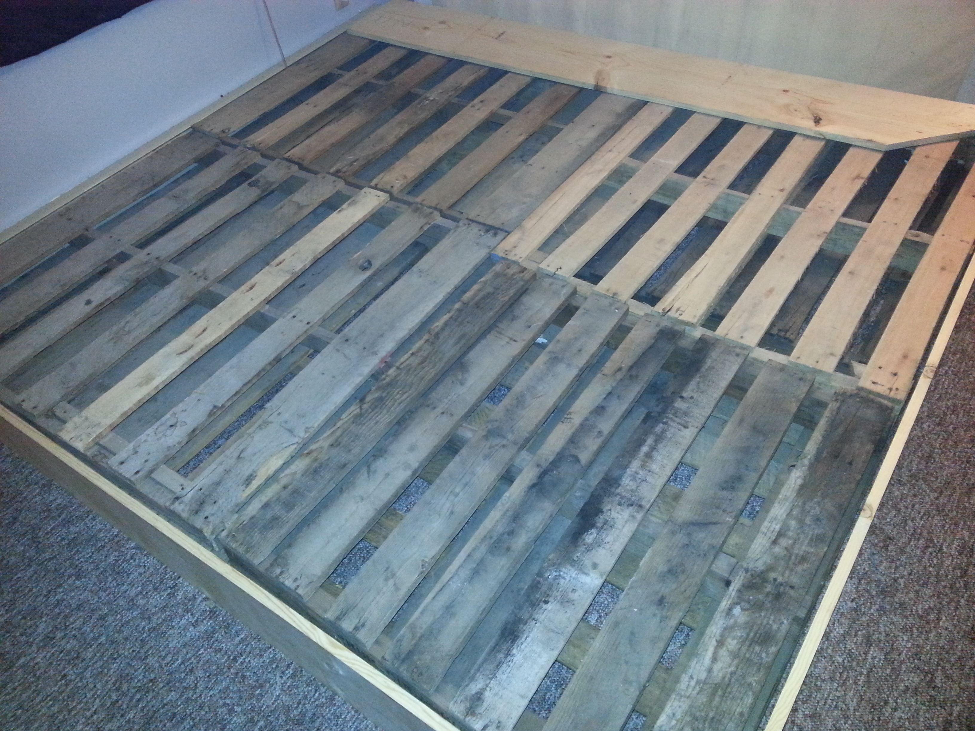 pallet bed frame.
