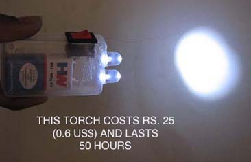 Low Cost LED torch (it lasts 50 hours)