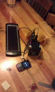 Simple Recycled / Re-purposed Solar Phone Charger