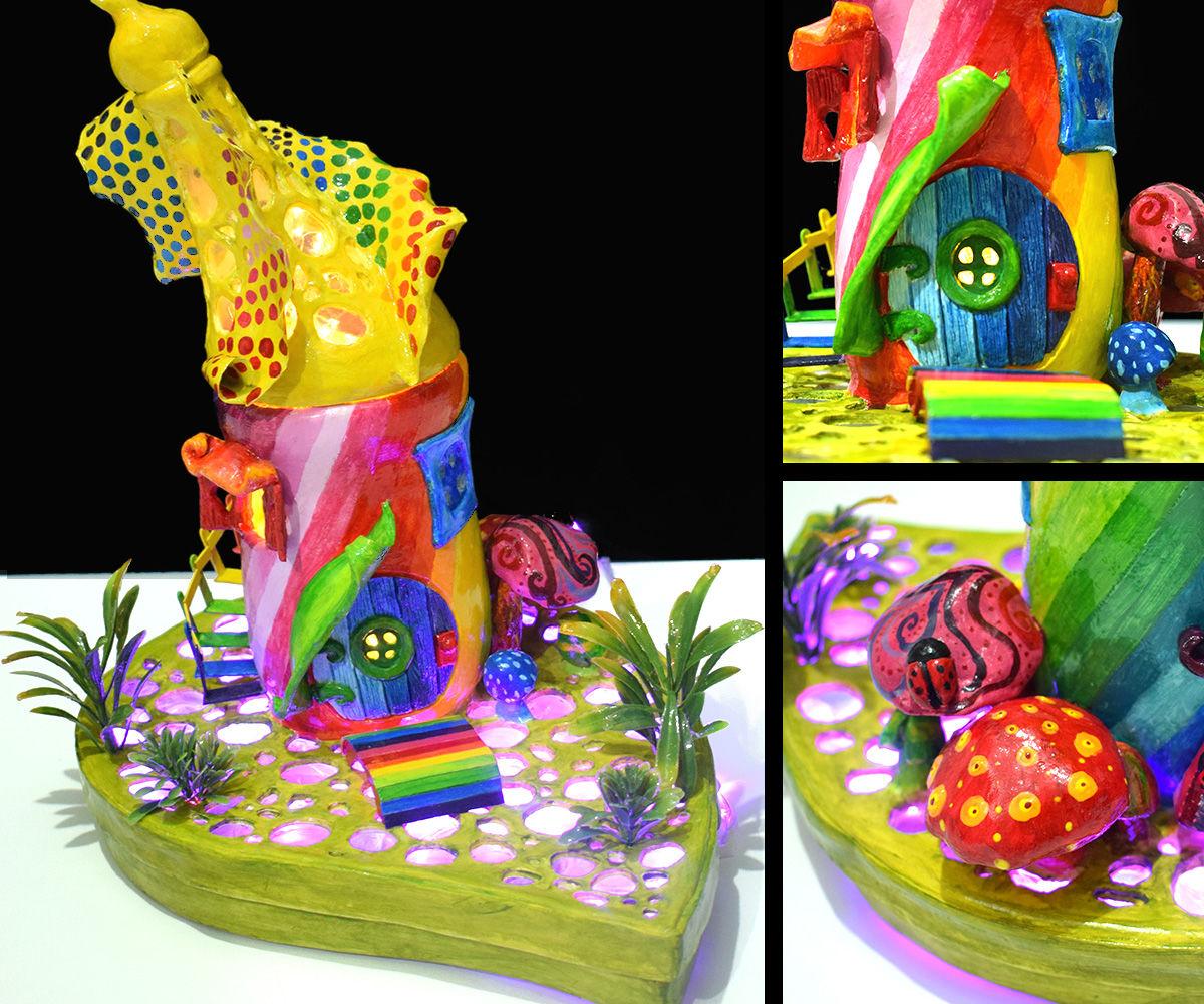 Rainbow Fairy House Lamp