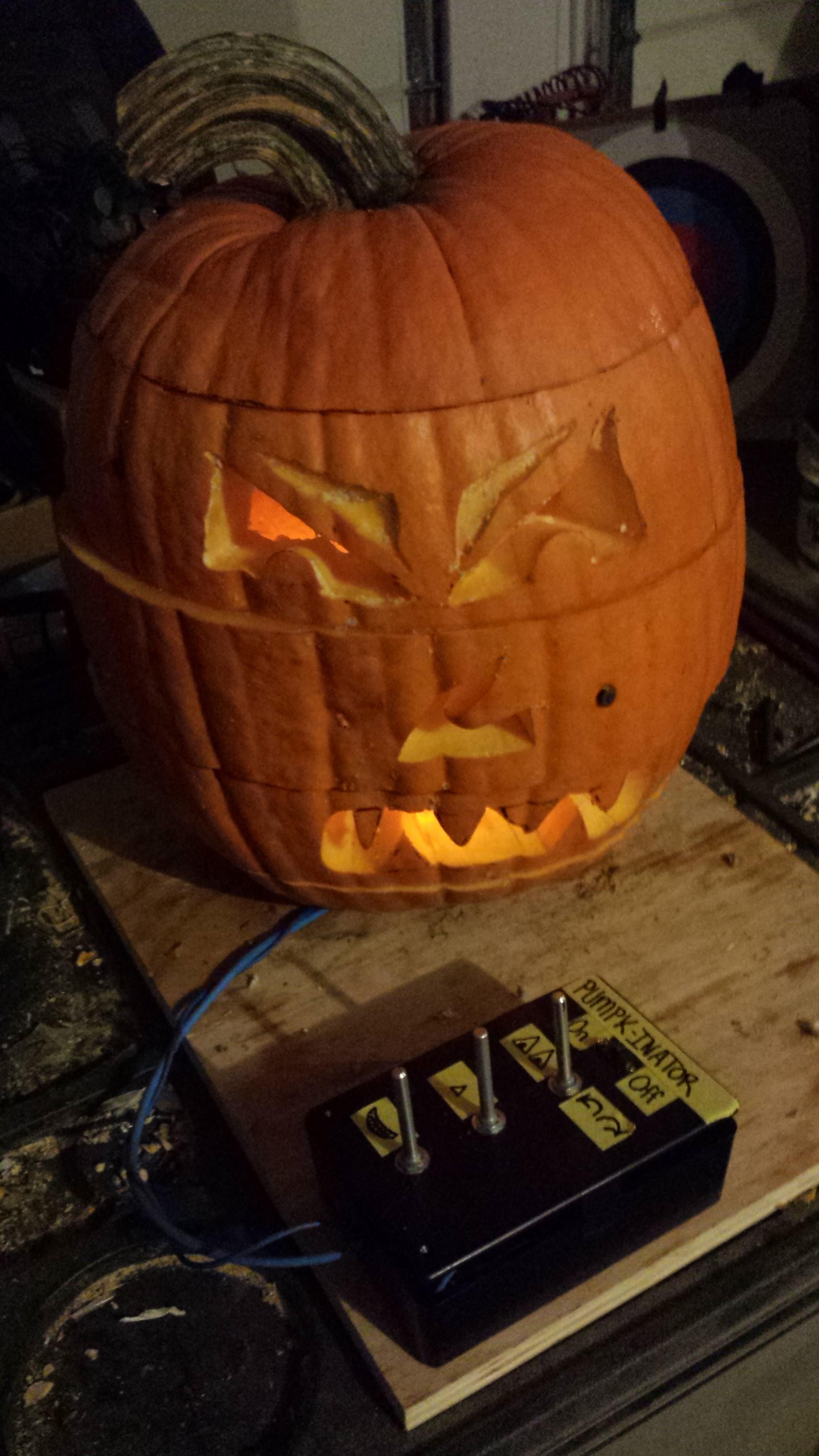27 faced rotating pumpkin