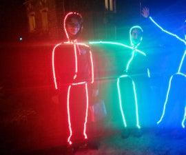 LED Glasses and Costume