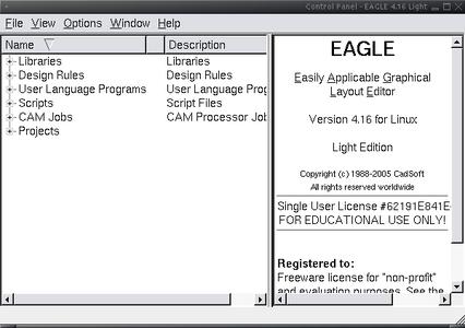Start the Eagle Control Panel
