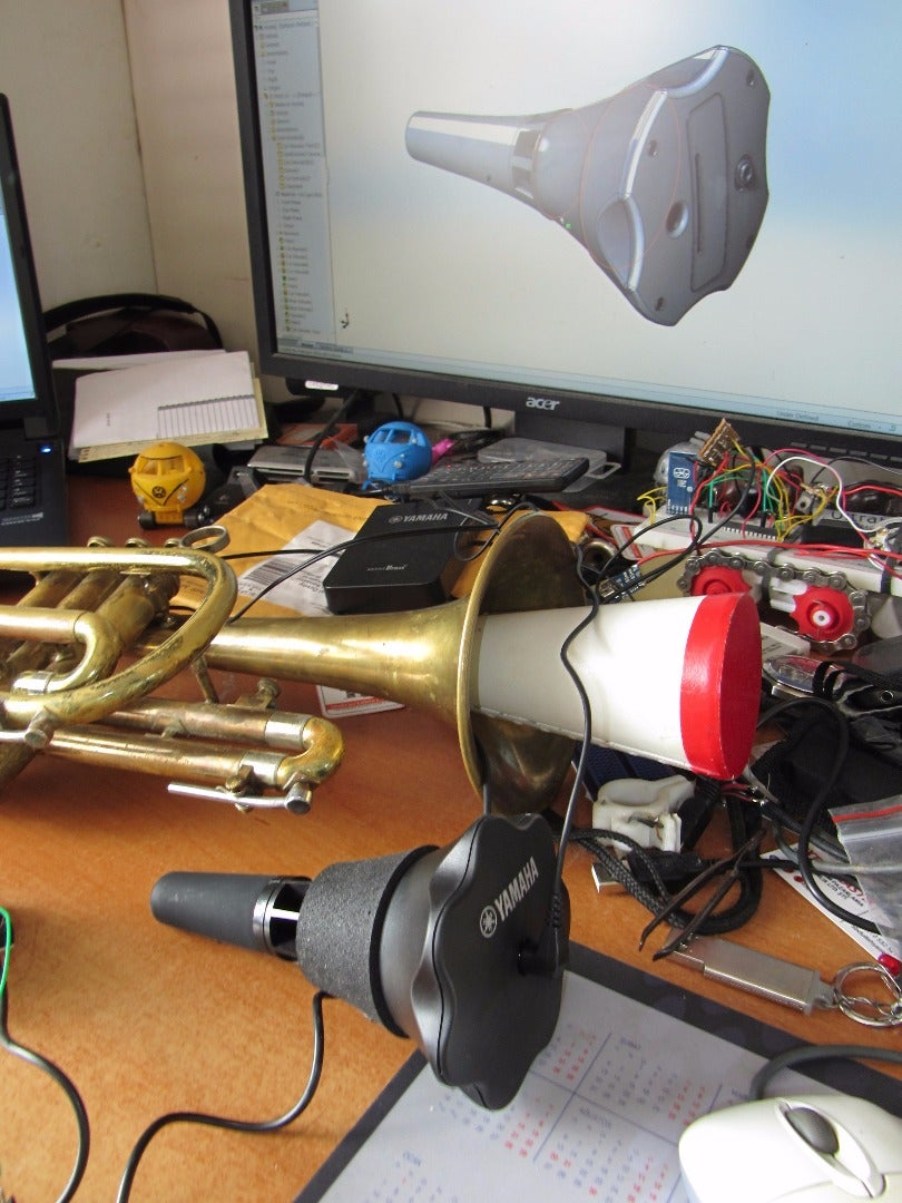 Electronic Mute for Trumpet & Cornet (Poor Man's)