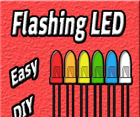 Flashing LED Circuit Using 555 Timer IC | Basic Electronics Projects | LED Flash | Blinking