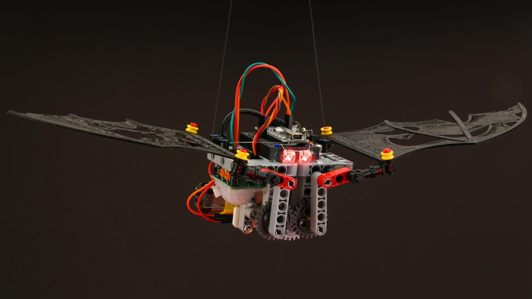 The Red LEDs of the Robotic Bat