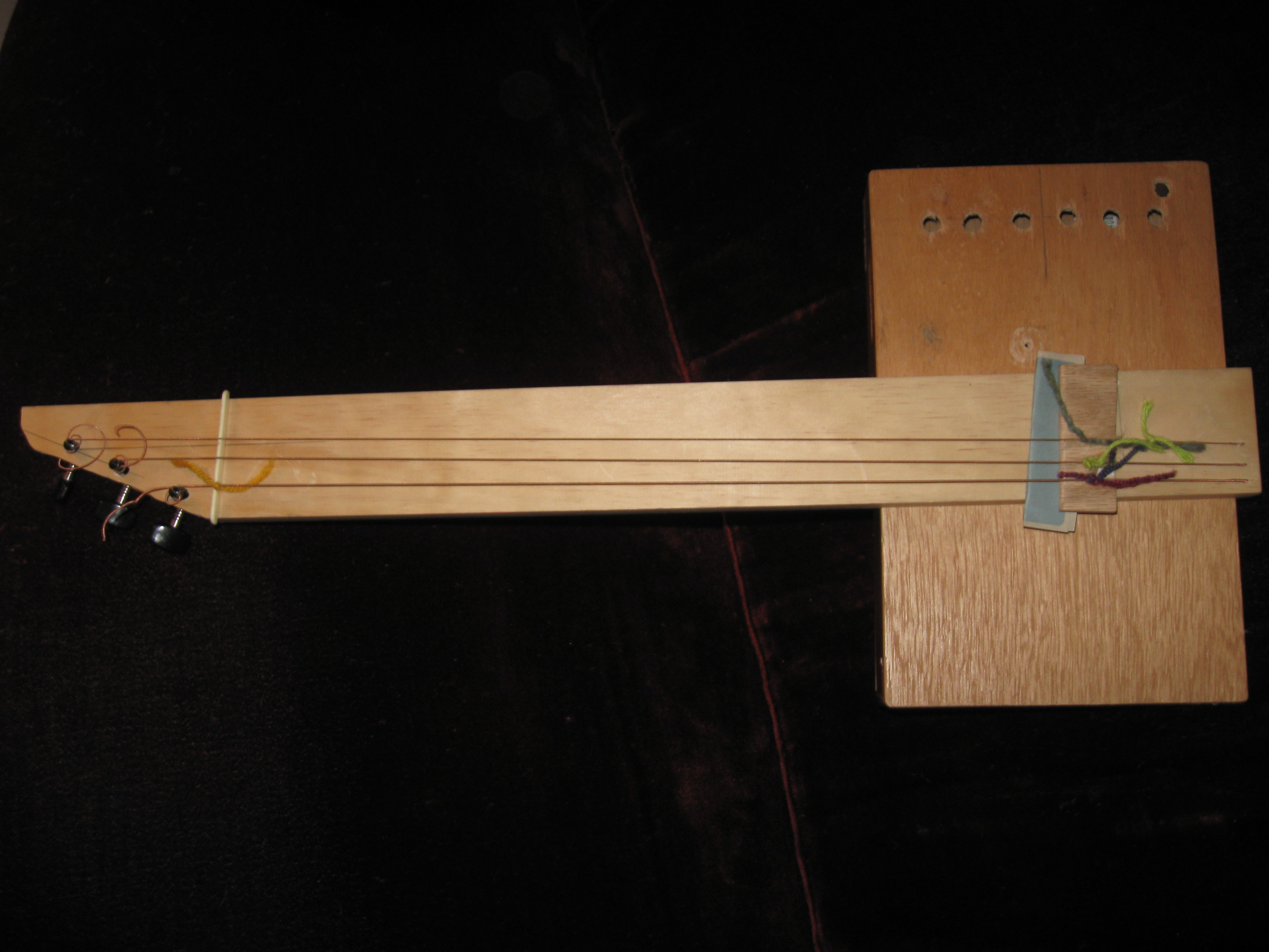 Cigar box sitar (tamboura)