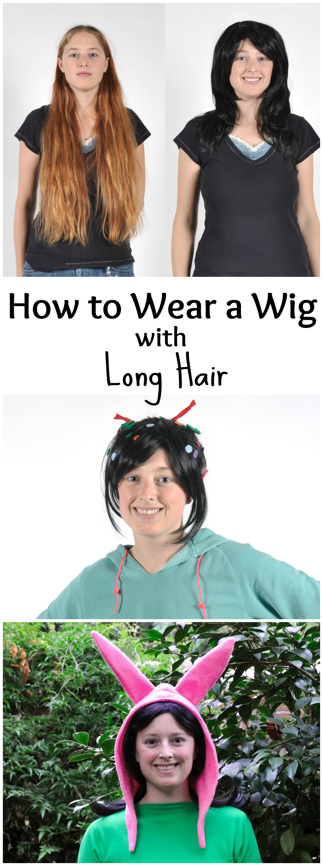 How To Wear A Wig With Long Hair 4 Steps With Pictures