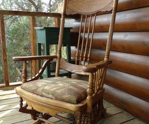 Restoration: 1878 Platform Glider Rocking Chair