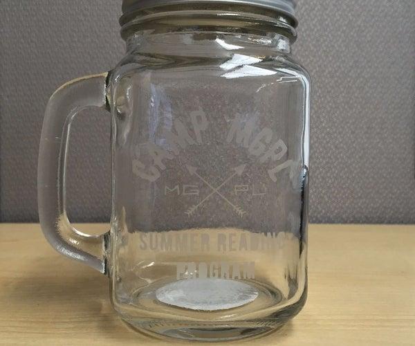 Etched Mason Jar Mug