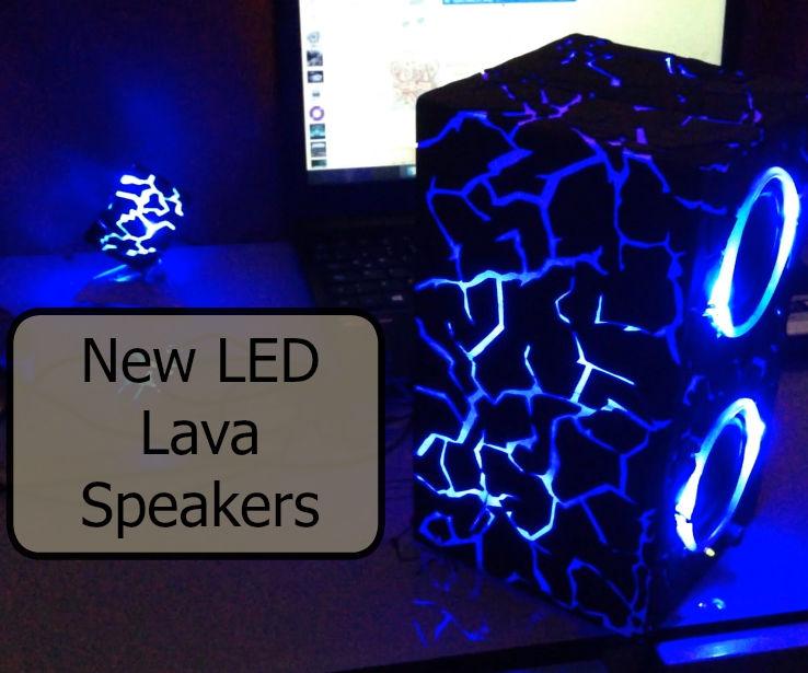 LED Lava stone Speakers