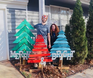Christmas Trees From Pallet Wood   Holiday DIY