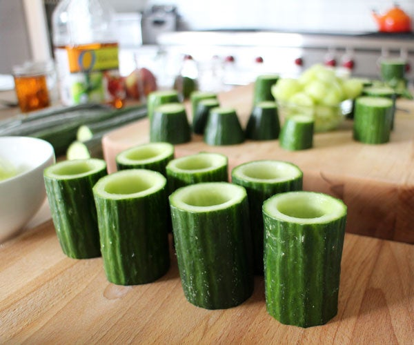 Edible Cucumber Cups for Cocktails