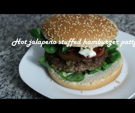 Hot Jalapeno Stuffed Hamburger Patty Recipe