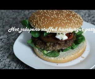Hot Jalapeno Stuffed Hamburger Patty Recipe