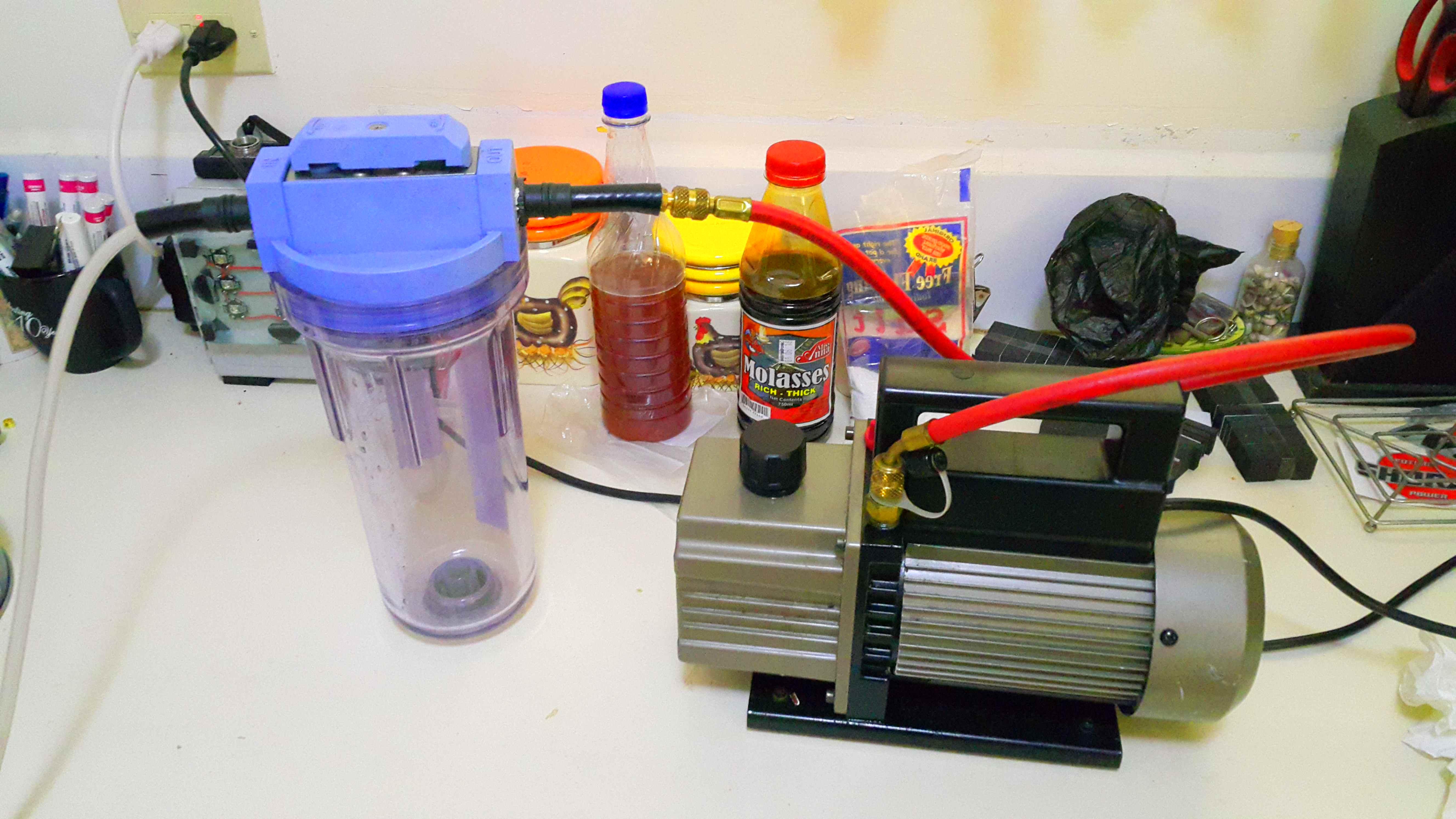 Vacuum powered liquid extractor!