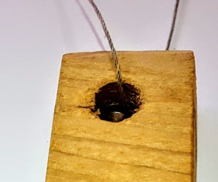Nail Through Wood Pendant