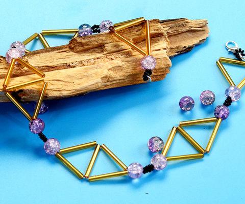 Beebeecraft Tutorials on Making Geometric Triangle Necklace