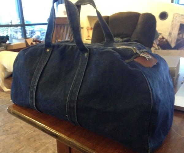 Vintage Waxed Canvas Bag