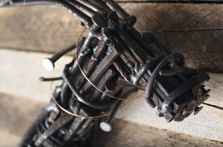 Make a (Working!) Steampunk Hammer From Reclaimed Nails