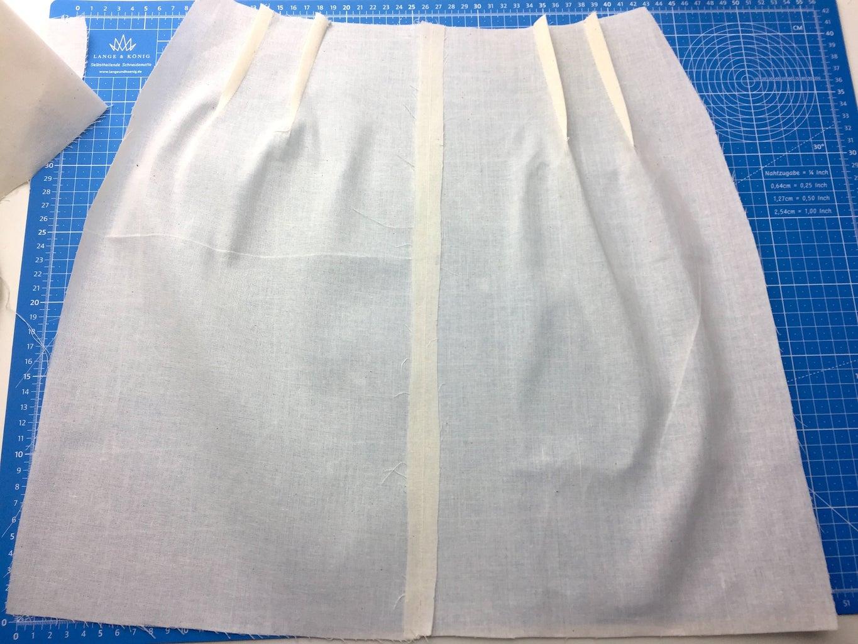 Sewing: Closing Darts, Inserting Zipper, Closing Main Seams.