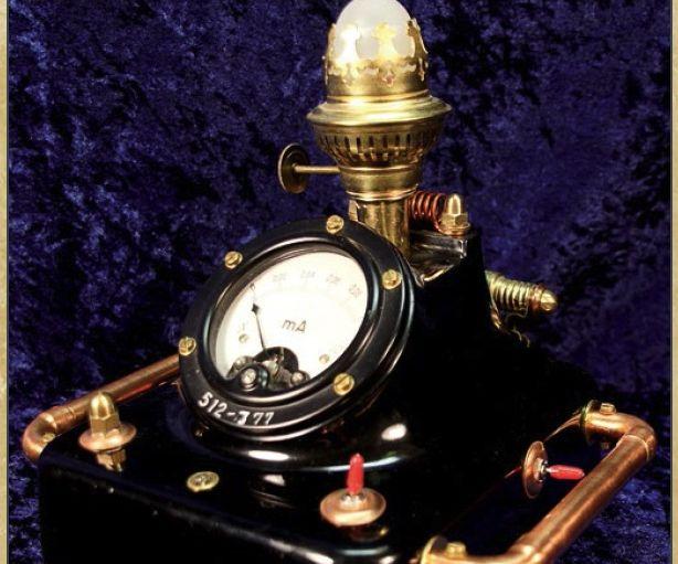 "Steampunked lightning detector""Jupiter"""