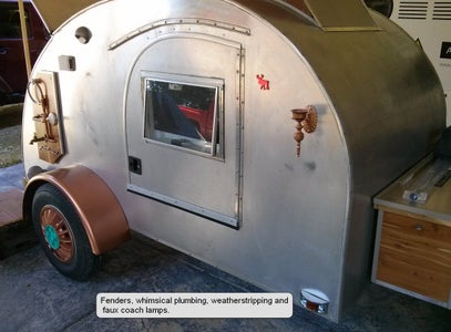 How to Steampunk a Tiny Teardrop Camper