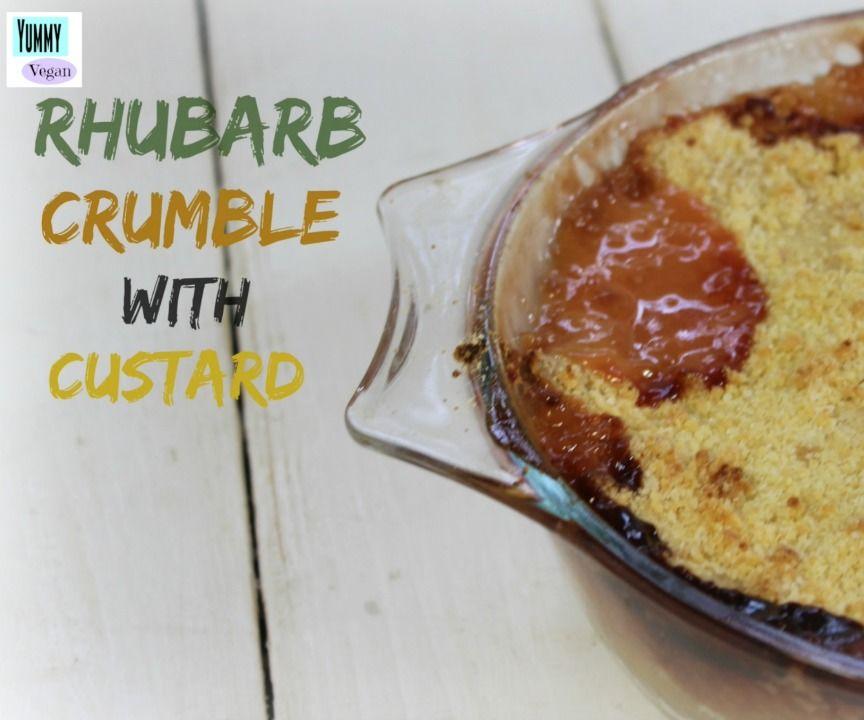 Rhubarb Crumble (Vegan)