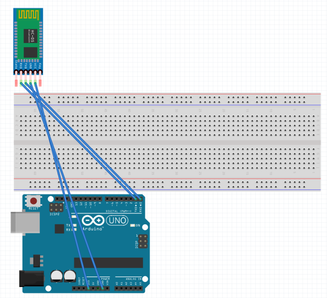 Connecting the HC-05 Bluetooth Module