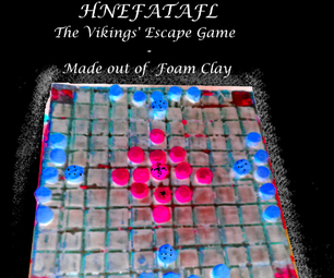 DIY: Make a Hnefatafl, the Vikings' Chessboard Game, As a Travelling Board Version Out of Foam Clay