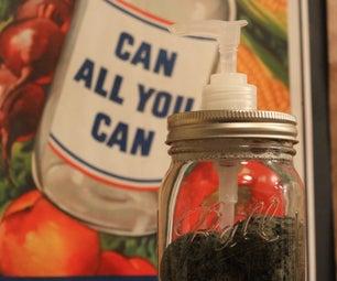 Simple Mason Jar Soap Dispenser