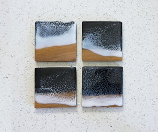 DIY Scrap Wood Ocean Coasters