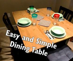 简单而简单的餐桌