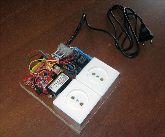 Smart power socket control from your smartphone via Bluetooth