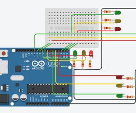 Arduino Traffic Light Controller | 4-Way