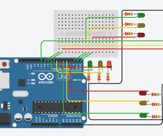 Arduino Traffic Light Controller | 4-Way