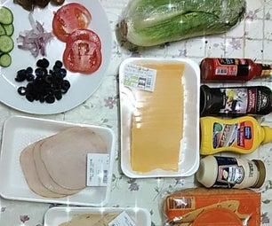 TURKEY CHICKEN SHOOTER SANDWICH