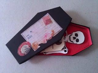 Coffin' Skeleton Halloween Invitations