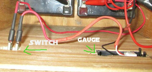 Voltage Meter and Switch.