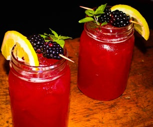 黑莓柠檬水