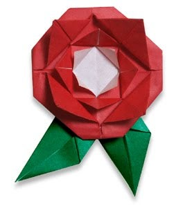 How to Make an Easy Origami Valentines Rose!