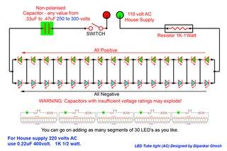 LED TUBE LIGHT (AC) : 3 Steps - Instructables   Tube Light Wiring Diagram Pdf      Instructables